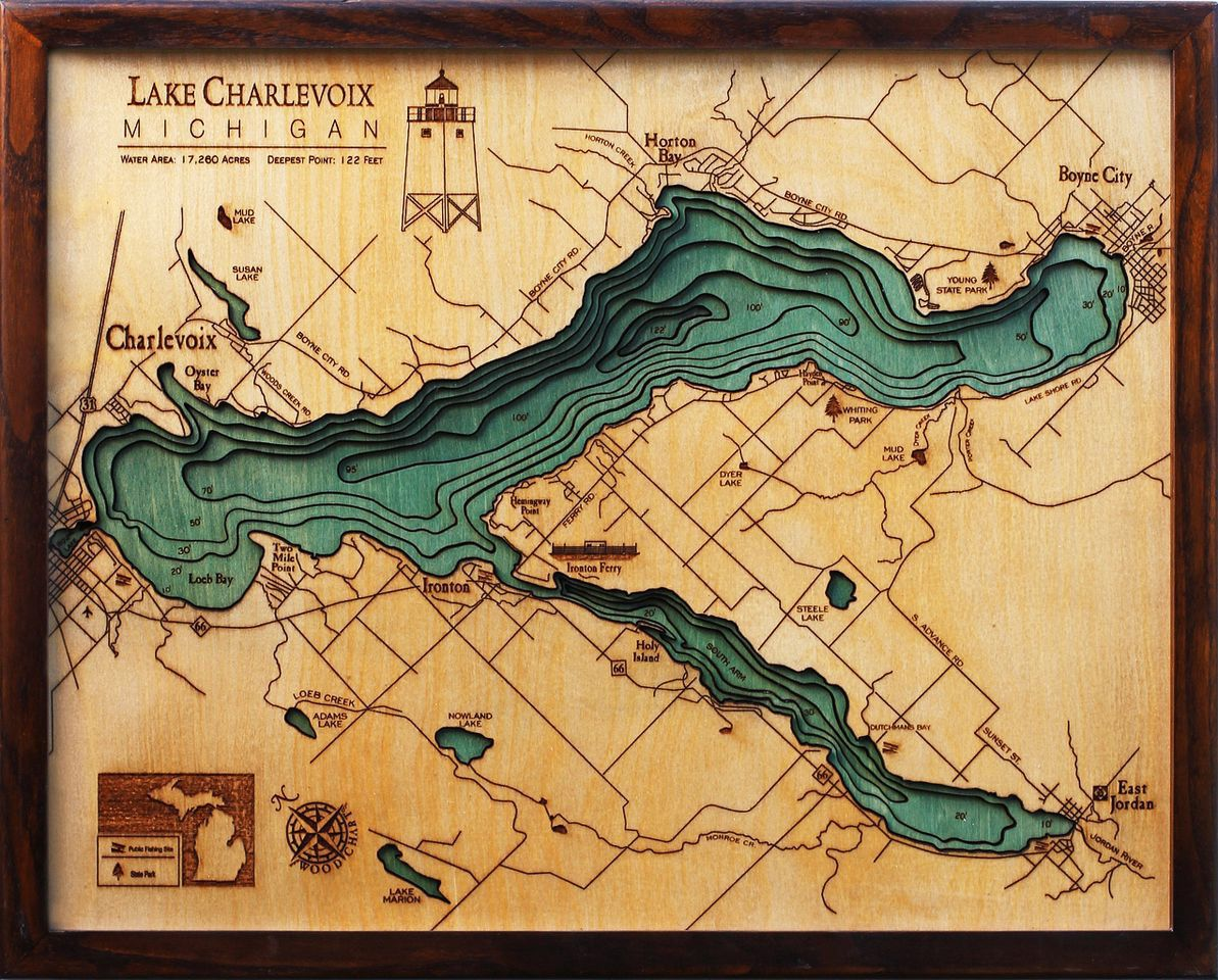 Bathymetric Map of Lake Charlevoix Extremely accurate