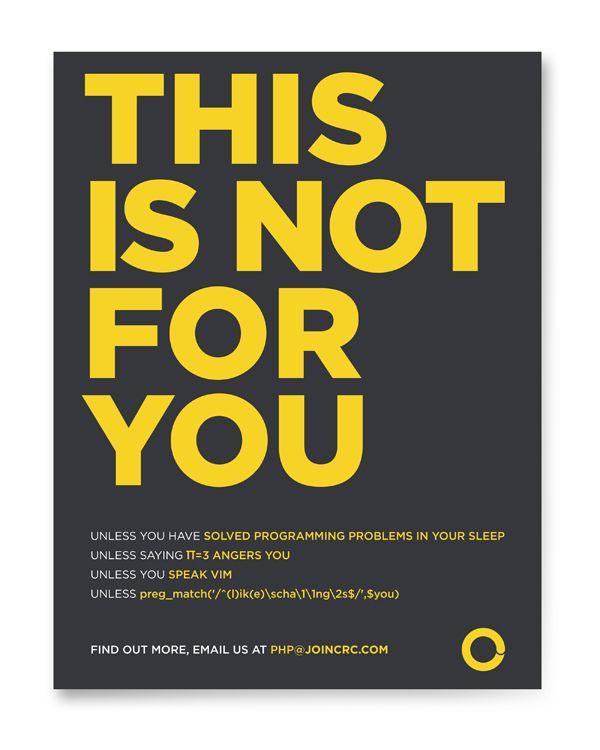 Php Developer Recruiting Campaign Guerrilla Marketing Francesco Colletto Graphic Design Recruitment Poster Design Recruitment Ads Recruitment Advertising