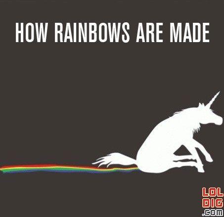 unicorns pooping rainbows