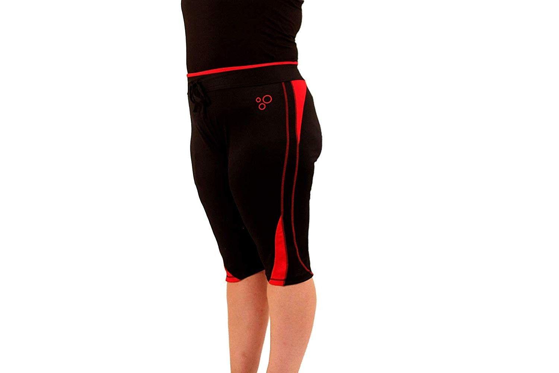 Plus Size Active Athletic Workout Leggings Capri ColorSplash (XXXX-Large - Red) - C818HSG7OHM - Spor...