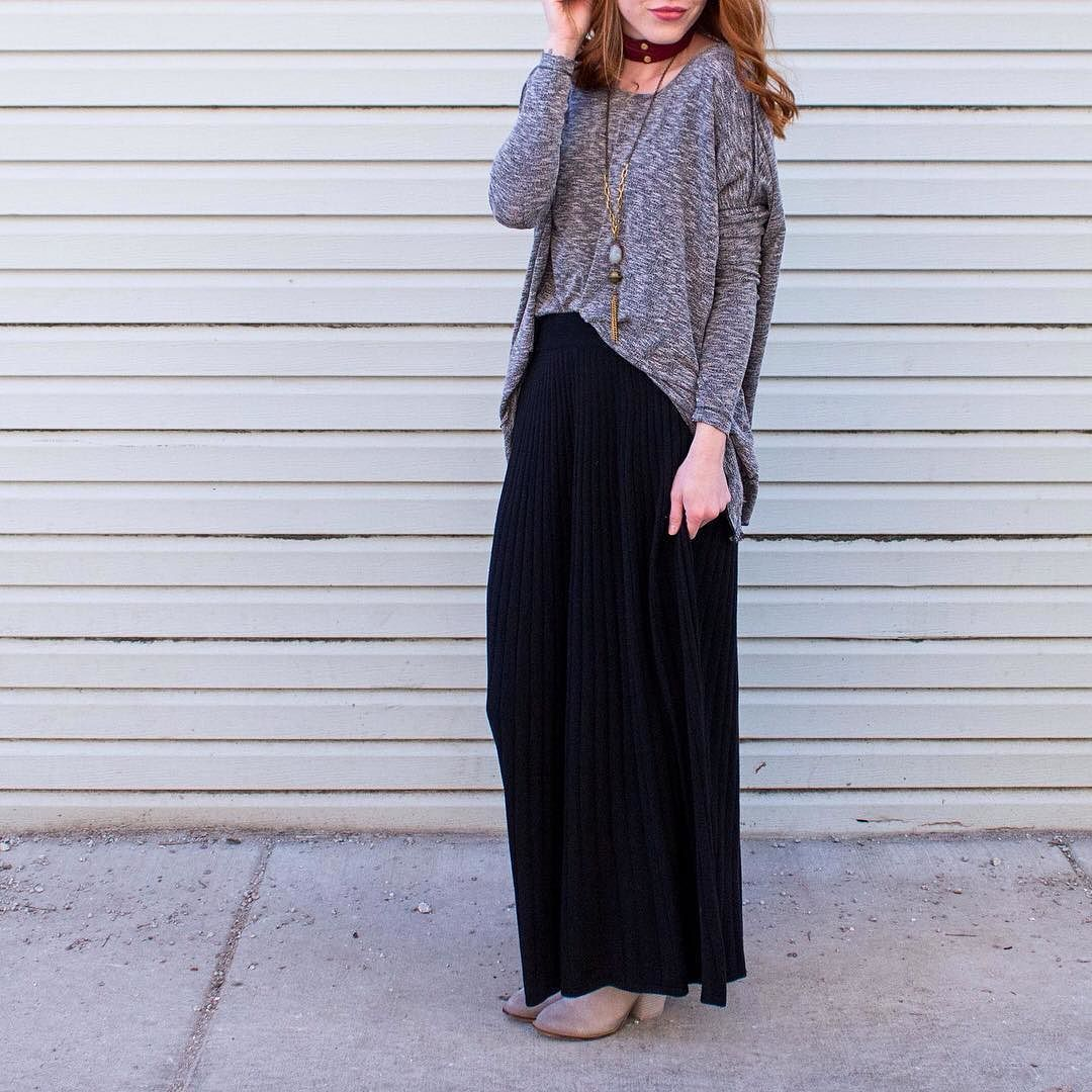 The perfect Skirt for winter  These skirts look so cute with sweaters! Get yours from www.shopelysian.com today! All Tied Up Choker in Maroon $18. In store only. Stone/Tassel Pendant Necklace $58. In store only. Plot Twist Knit Top $58 online  in-store Cordion Skirt in Grey $78. online  in-store. Must Have Mule Bootie In Heather $89.99 online  in-store. #WearElysianDaily http://ift.tt/2hUsTM0 The perfect Skirt for winter  These skirts look so cute with sweaters! Get yours from…