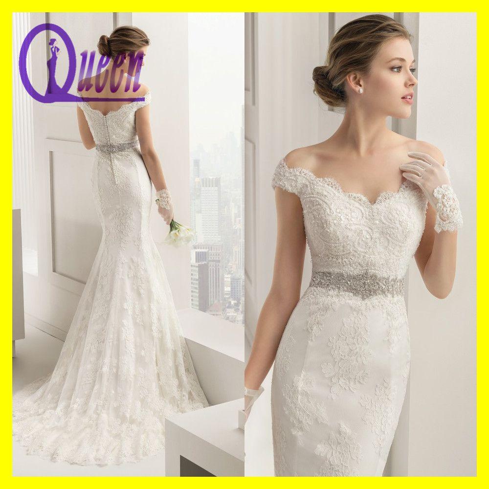 Wedding Dress For Petite. Spaghetti Straps Lace Bodice Split Long ...