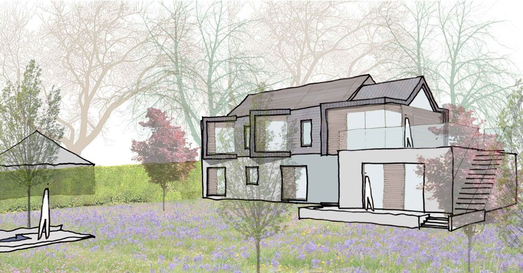 Bosham Hoe redesign transparent building / trees (With