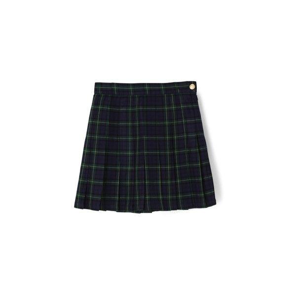 チェックプリーツスカート (1.073.050 VND) ❤ liked on Polyvore featuring skirts, blue skirt and bubble skirt