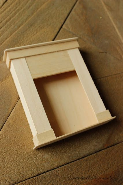 Cinderella Moments: Dollhouse 1/12 Fireplace Mantel Tutorial Cottage Style #dollfurniture