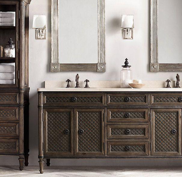Restoration Hardware Louis Xvi Dresser: Louis XVI Treillage Double Vanity