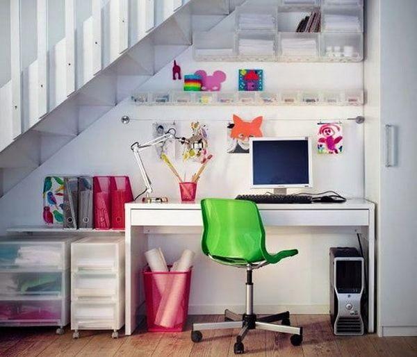 ikea habitacion de estudios debajo de escalera