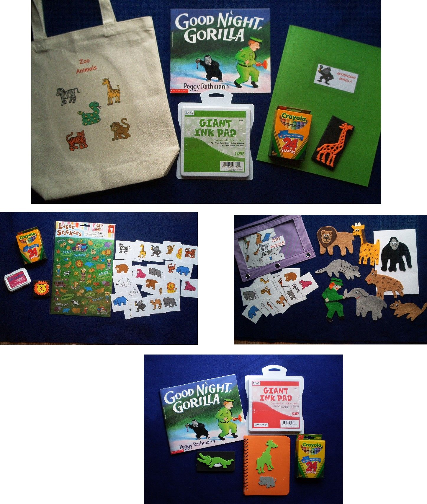 Goodnight Gorilla Literacy Bag Busy Bags