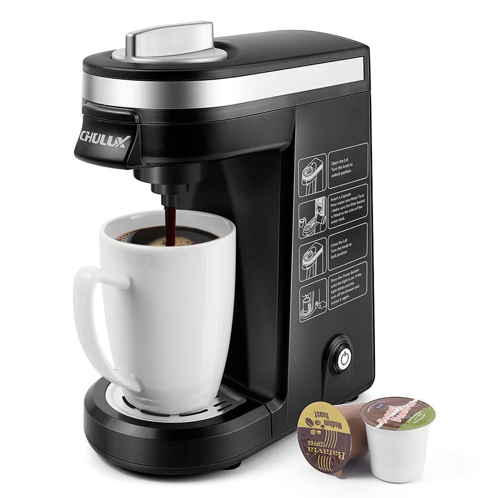 Chulux Black Single Serve Coffee Maker Brewer For Single Cup Capsule With 12 Oz Reservoir Qf Cm801 Kpl In 2020 Single Cup Coffee Maker K Cup Coffee Maker Best Coffee Maker