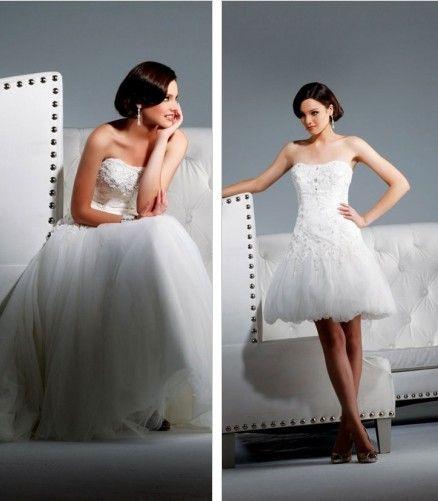 Convertible Wedding Gown Detachable Skirt: Convertible Wedding Dress ♥ Removable Skirt