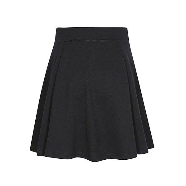 George Girls School Jersey Skater Skirt (€5,21) ❤ liked on Polyvore featuring skirts, long circle skirt, long flared skirt, long jersey skirt, skater skirt and elastic waist skirt