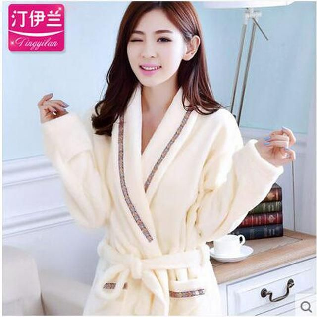 Dressing Gowns For Women And Men Bath Robes Nightgown Winter Warm ...