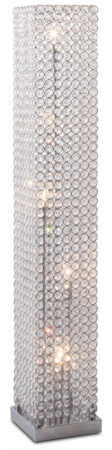 Crystal Tower Floor Lamp Floor Lamp Glam Floor Lamps Floor