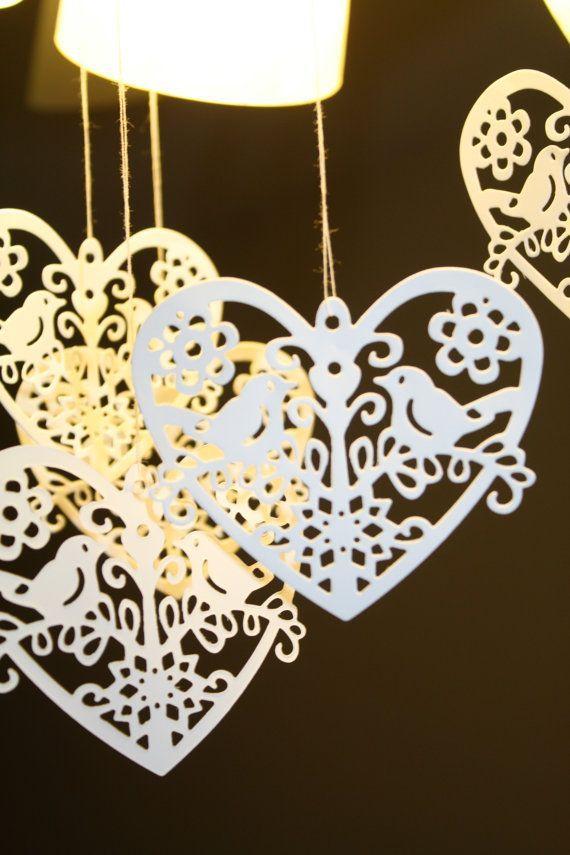 Love Bird Wedding Decorations Love Birds Bird On Wire Heart Bird