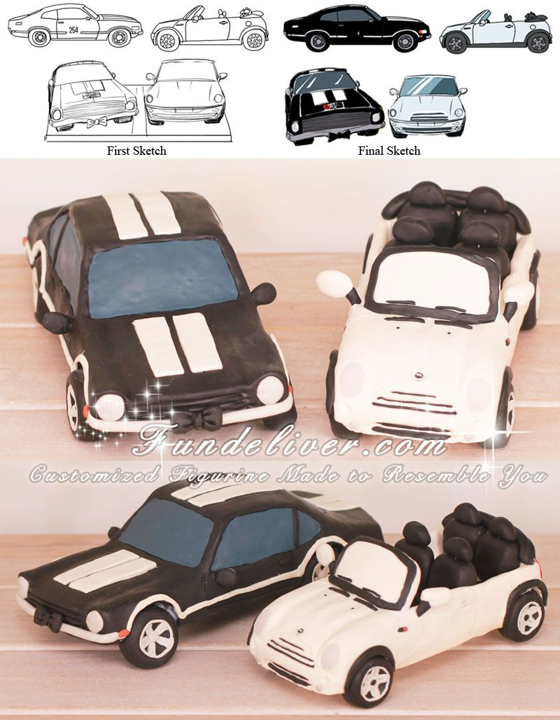 Mini Cooper Car Wedding Cake Toppers Wedding Pinterest Wedding