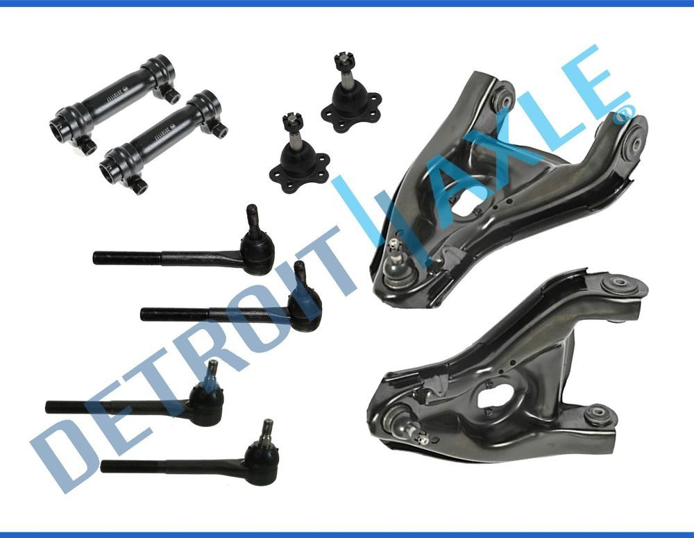 Detroit Axle Excluding Shelby or Bullitt Inner Outer Tie Rods w//Rack Boots for 2005-2008 Ford Mustang Base /& GT 12PC Front Strut /& Coil Spring Assembly Front Lower Control Arms w//Sway Bars