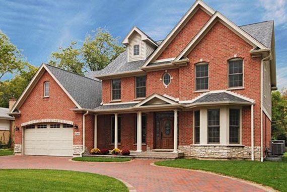 Modern brick house design peaceful house design with for Brick house designs