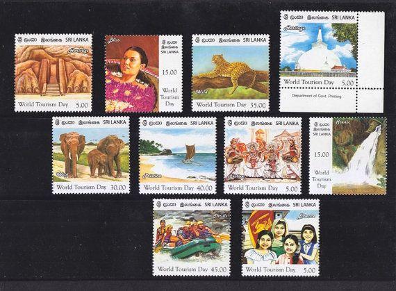 10 Nos. Sri Lanka (Ceylon) 2011 World Tourism Day MNH Stamps Collection