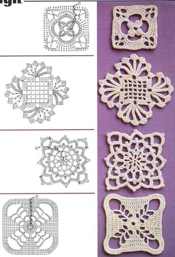 Gráfico rosetas | My Style in crochet | Pinterest