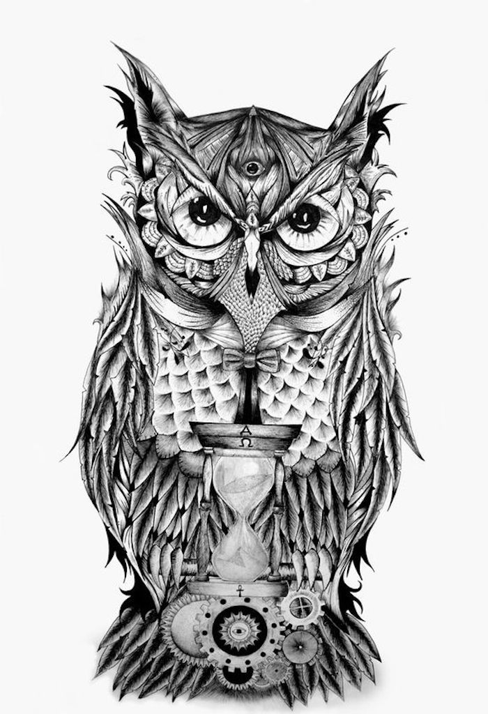 47 inspirierende ideen und bilder zum thema owl tattoo tattos und. Black Bedroom Furniture Sets. Home Design Ideas