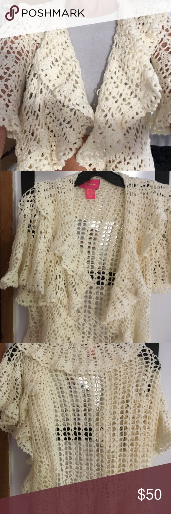 Crochet cardigan | Betsey johnson, Customer support and Short sleeves