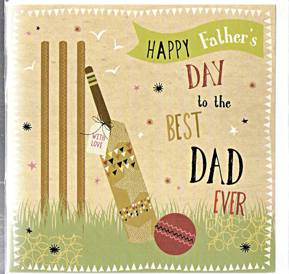 Milkwood to the best dad ever dad cricket greetings card in home milkwood to the best dad ever dad cricket greetings card in home furniture diy celebrations occasions cards stationery ebay m4hsunfo