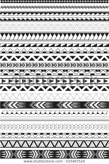 Photo of Maori-Bürsten auf Weiß Stock-Vektorgrafik (Lizenzfrei) 525407524