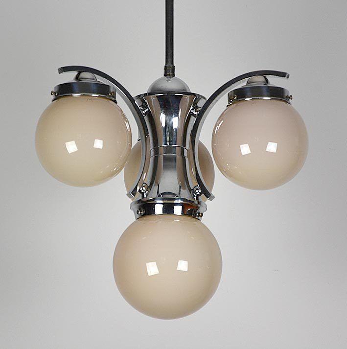 Bauhaus Art Deco Deckenlampe Chrom Vintage Lamps Bauhaus Art Light