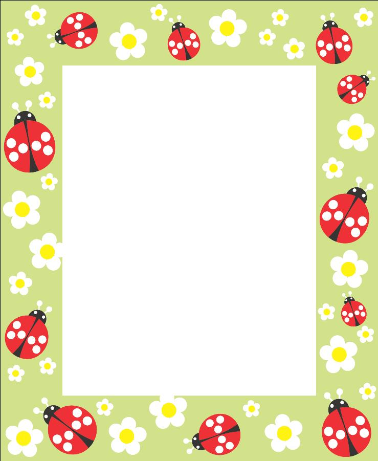 bordas   papel decorado   Pinterest   Rahmen, Marienkäfer und ...