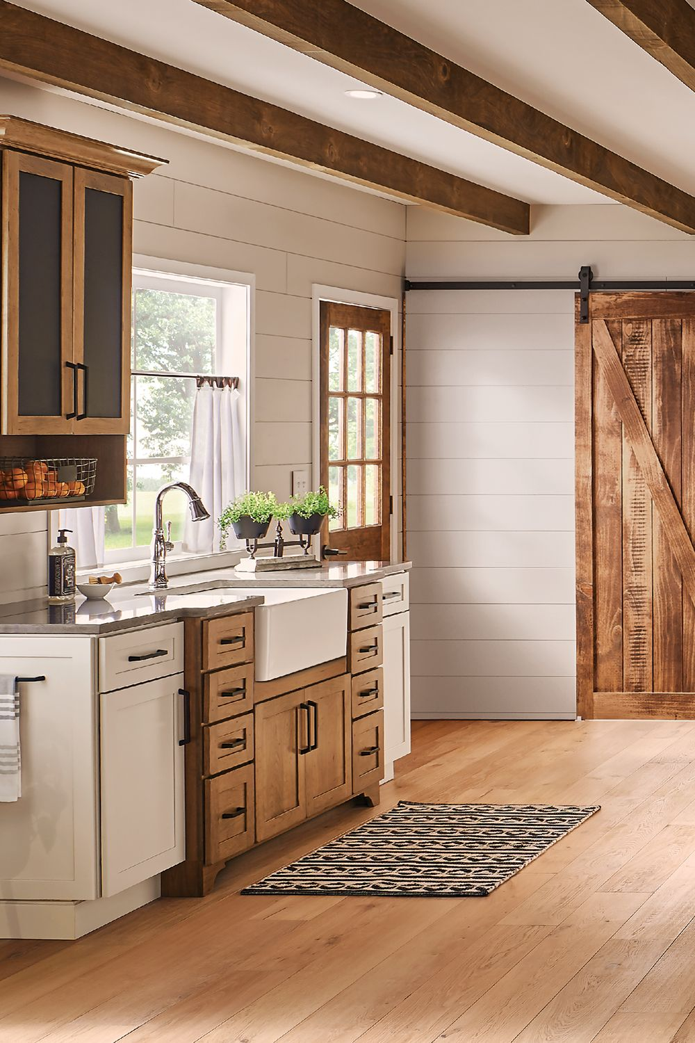 Homegrown Character In 2020 Kitchen Cabinet Styles Stained Kitchen Cabinets Hickory Kitchen Cabinets