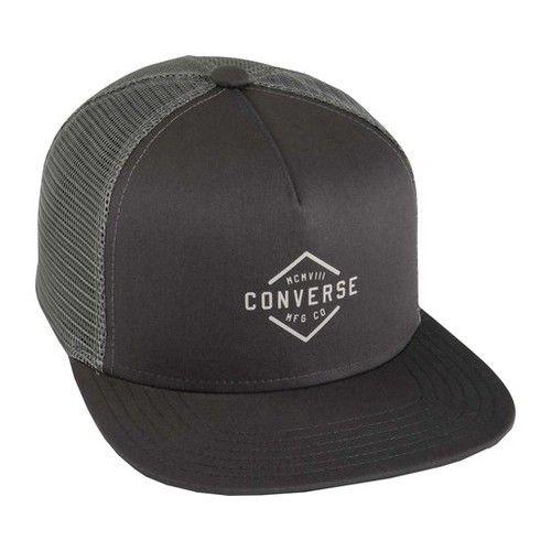 486db04d1df4d0 Men's Converse Diamond Crest Dartfront Trucker - Charcoal Grey Hats