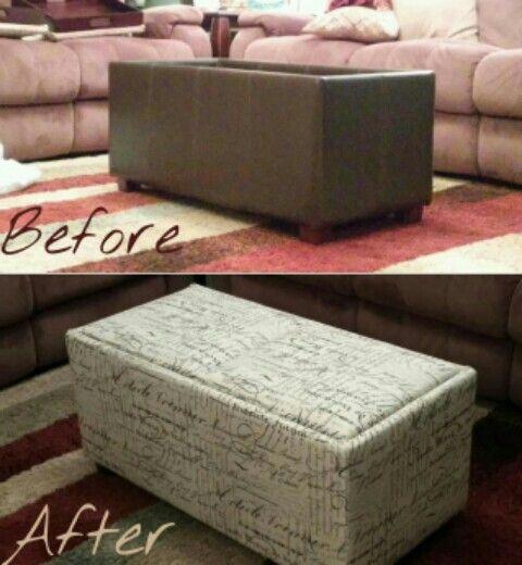 Reupholstered Ottoman Take An Inexpensive Walmart Ottoman Clearance