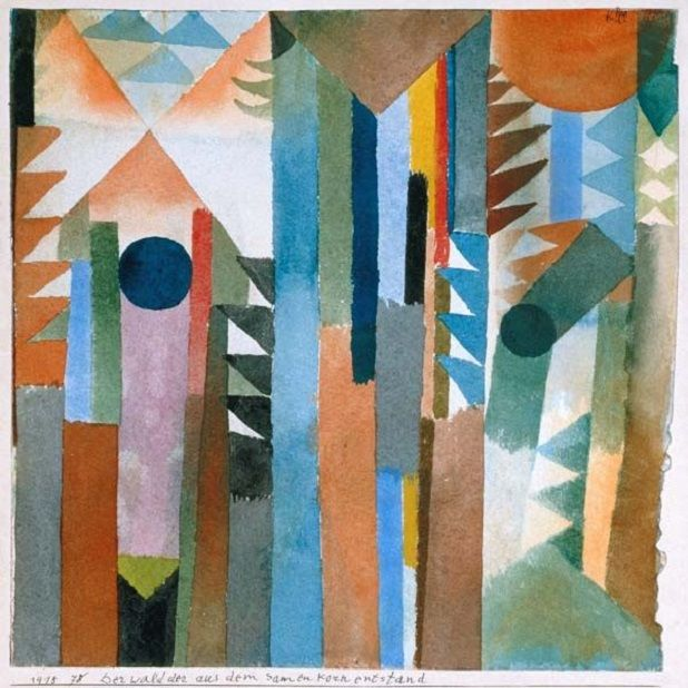 paul klee The woods which arose from the seed