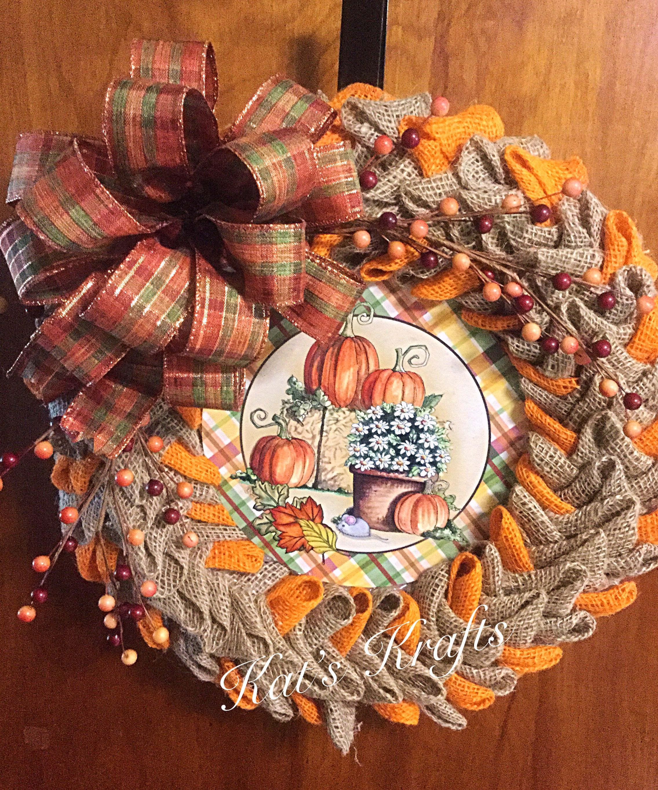 Pin by Rebecca R on Craftsy   Fall thanksgiving wreaths ...