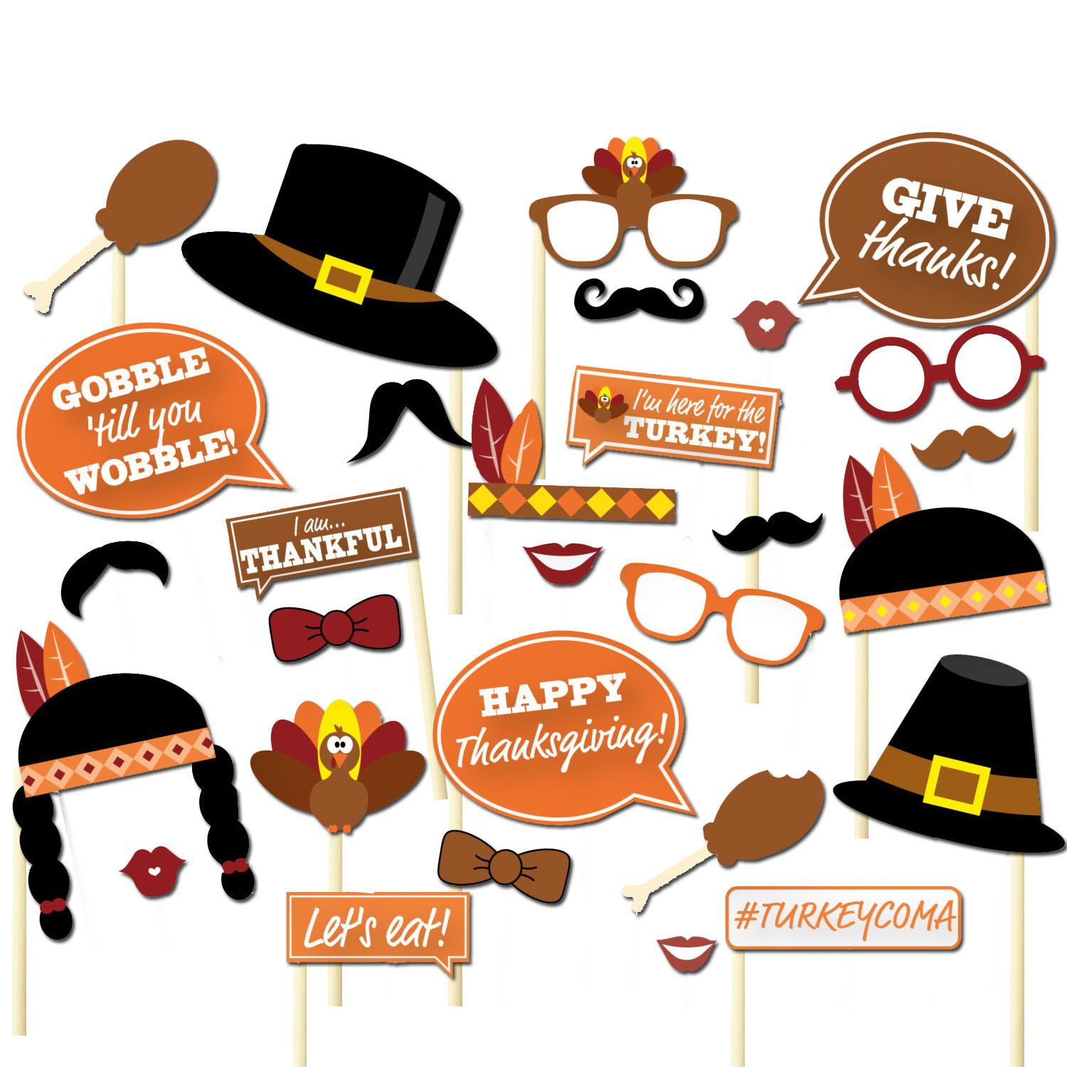 Details About 29pcs Thanksgiving Day Party Supplies