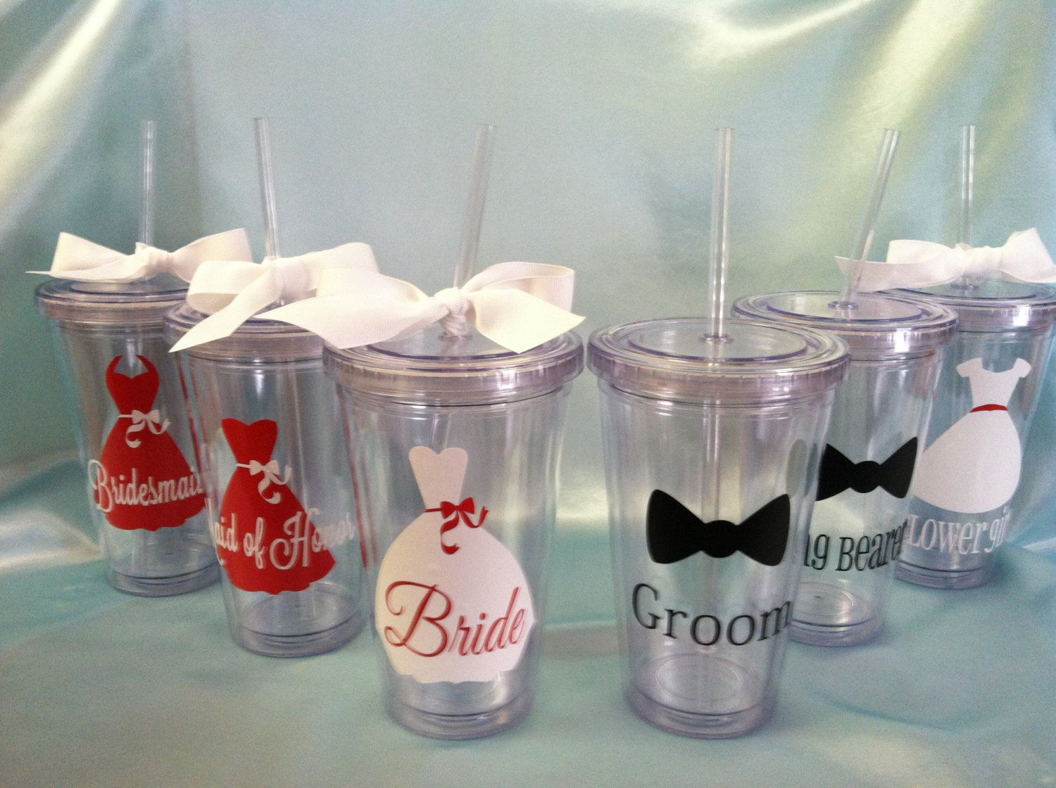 Personalized Wedding Tumblers Bride Bridal Party Cups Groom Tumbler 12 00 Via Etsy