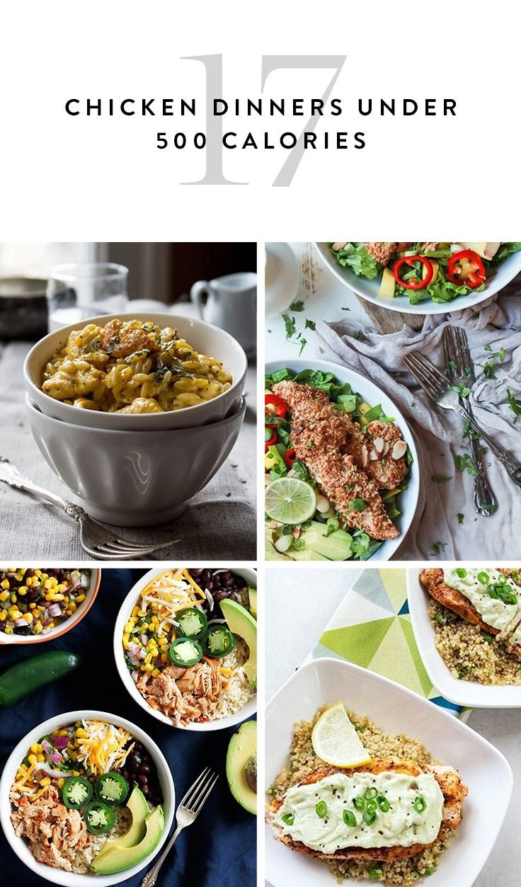 17 Chicken Dinners Under 500 Calories Healthy Dinner Recipes Chicken Chicken Recipes Under 500 Calories Dinners Under 500 Calories