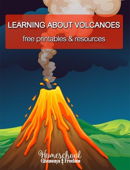 learning about volcanoes free printables and resources best of homeschool giveaways. Black Bedroom Furniture Sets. Home Design Ideas