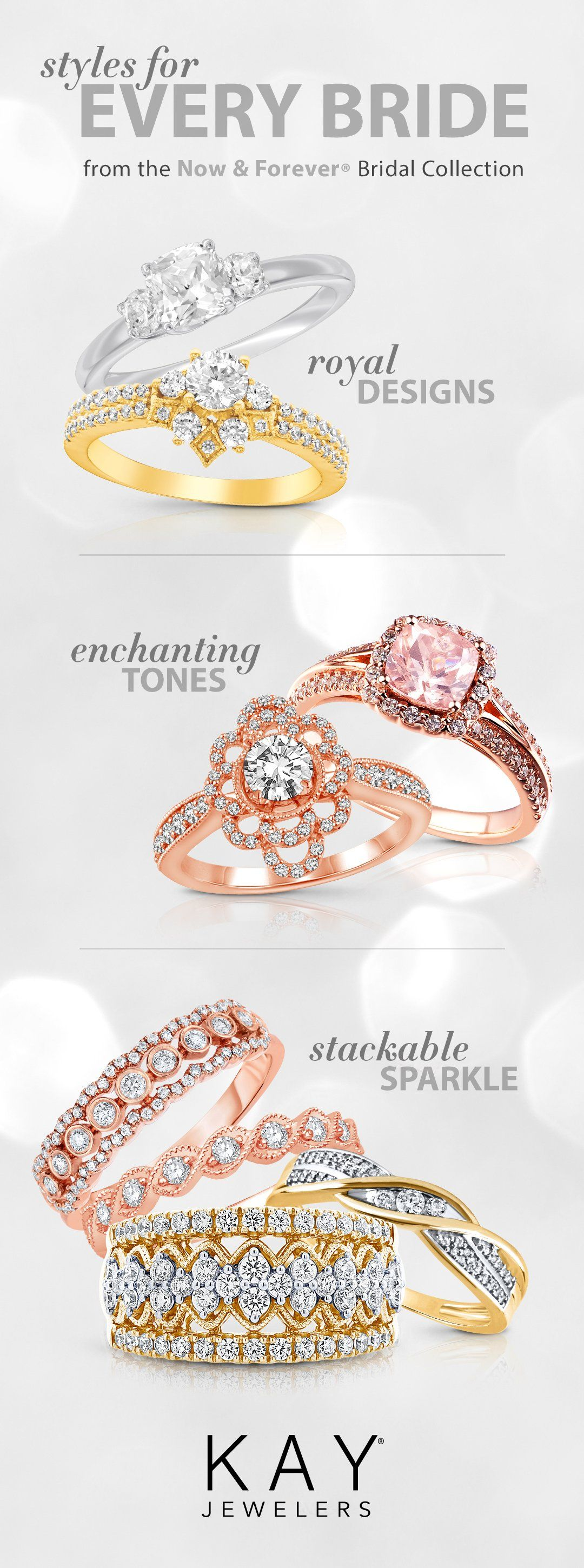 The Now Forever Collection Has Engagement Ring And Wedding Ring Styles For Every Bride Wedding Rings Fashion Rings Wedding Rings Vintage