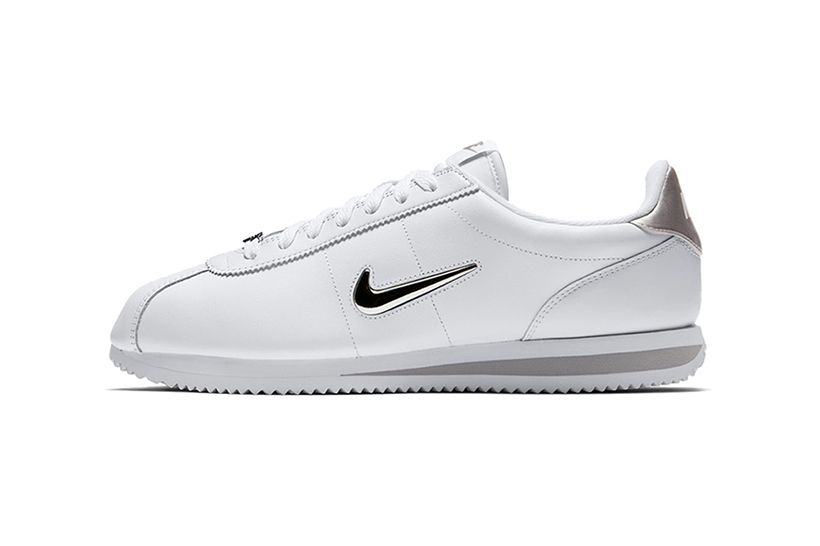 quality design f6874 92bc8 This Nike Cortez Jewel Is Adorned with a Metallic Silver ...