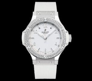 f8a32fe228ae9 Hublot Big Bang 38mm Ladies White Steel Diamonds   Jewelry I love ...