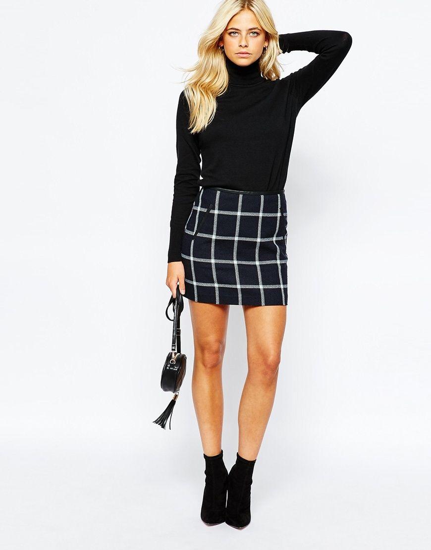 Oasis Checked Mini Skirt | Work Wardrobe | Pinterest | Modelli ...