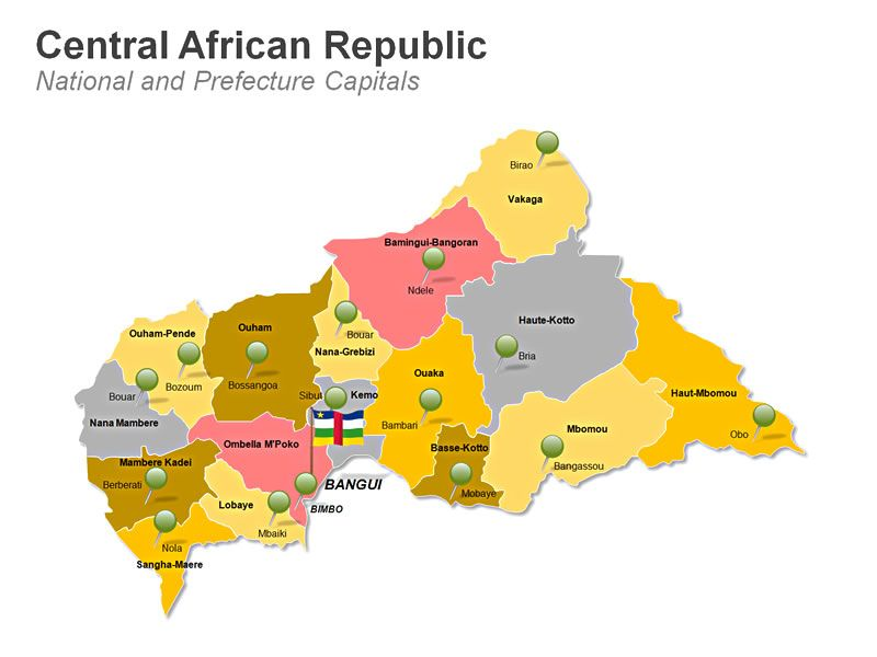 Editable powerpoint map central african republic map editable editable powerpoint map central african republic map toneelgroepblik Gallery