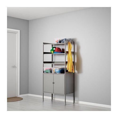 Outdoor Schrank hindö schrank regal drinnen draußen grau shelves garage shelf
