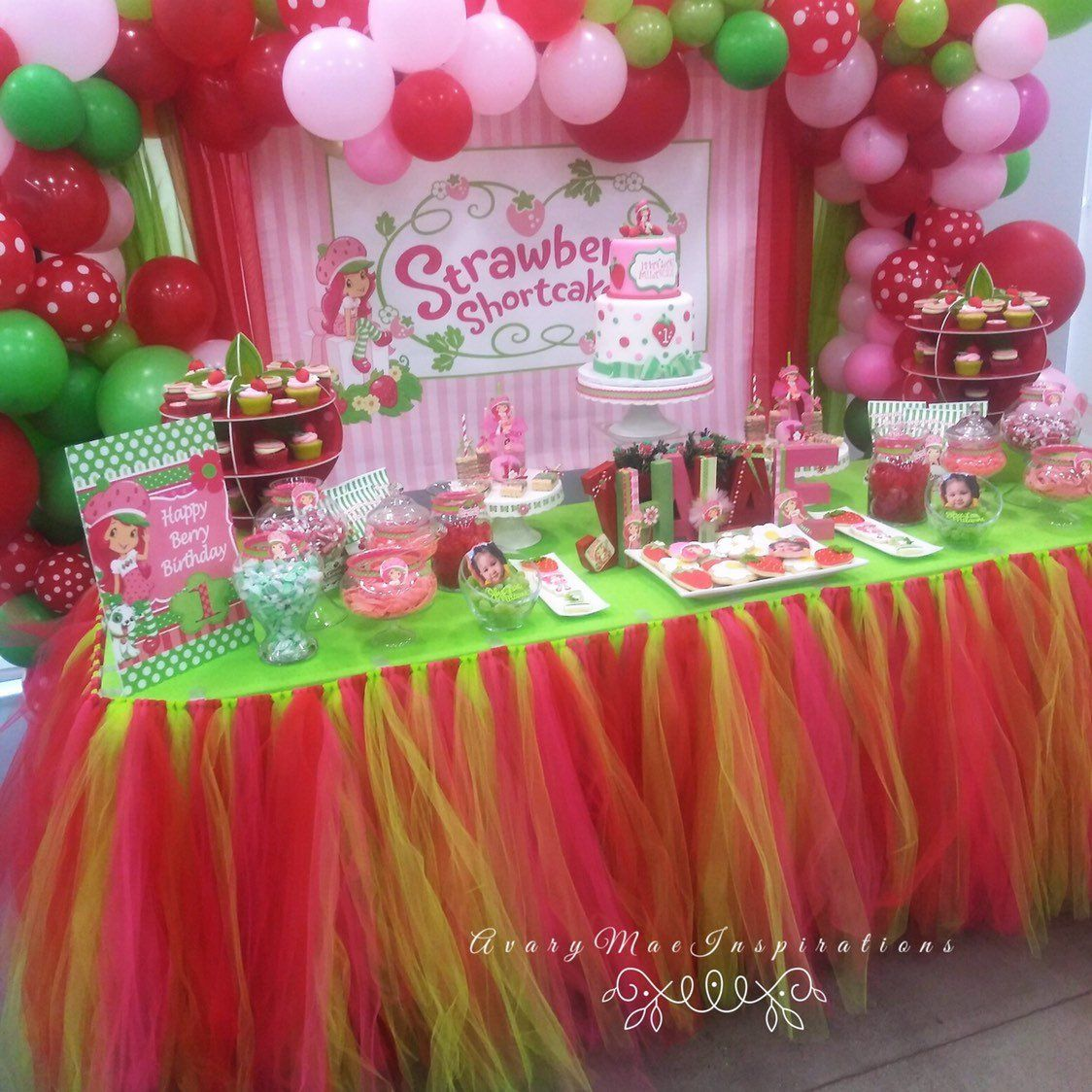 Tulle Table Skirt Tutu Table Skirt Strawberry Party First