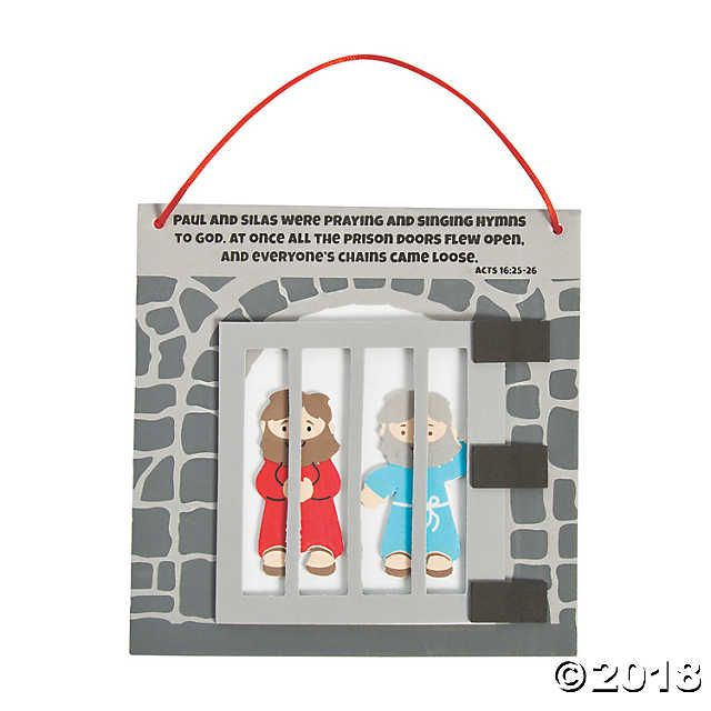 Paul & Silas in Prison Craft Kit   Iglesia   Pinterest   Craft kits ...