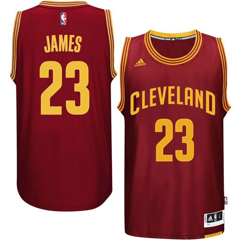quite nice 6af02 e430f LeBron James Cleveland Cavaliers adidas Player Swingman Road ...