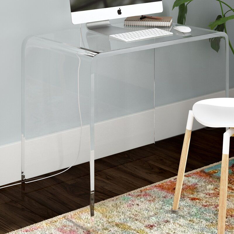 Mercury Row Channing Plastic Acrylic Writing Desk Reviews Wayfair Cheap Office Furniture Acrylic Furniture Acrylic Furniture Decor