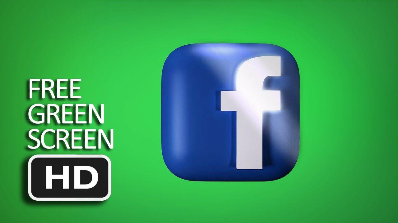 Free Green Screen Facebook Logo Glow Screen Mask Loop Fotografi