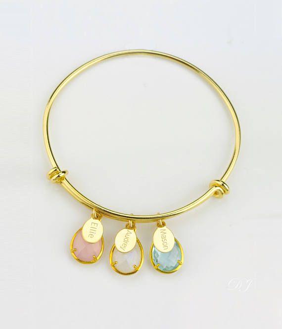 grandmother mother daughter custom birthstone bracelet for mom custom name Kids name bracelet mother jewelry mothers day gift for mom